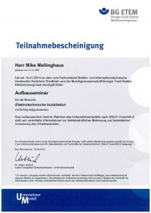 BG Aufbauseminar Mike Mellinghaus