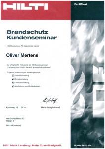 Brandschutz Seminar Oliver Mertens