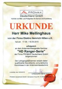 Promax Zertifikat Mike Mellinghaus