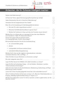 Bauherren und Modernisierer Checkliste Elektro Hillen